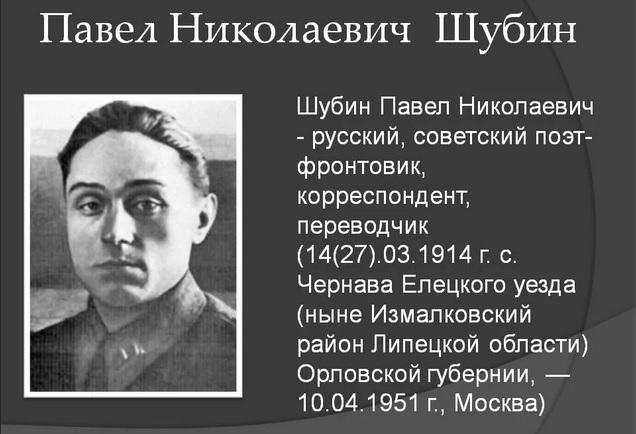 Павел Николаевич Шубин
